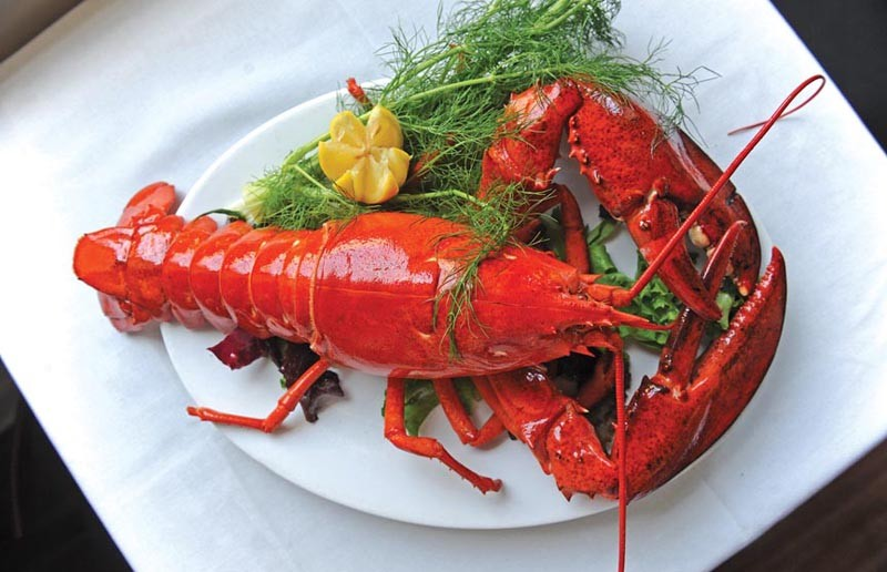 Lobster is still the main draw at the newly reopened Byram's on West Broad Street. - SCOTT ELMQUIST