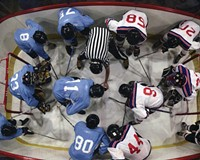 """Local artist and professor in Virginia Commonwealth University's department of sculpture and extended media, R. Eric McMaster's new exhibit """"The Obstruction of Action"""" explores issues of complicity and vulnerability through a hockey rink."""