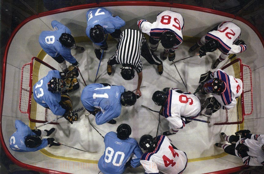 "Local artist and professor in Virginia Commonwealth University's department of sculpture and extended media, R. Eric McMaster's new exhibit ""The Obstruction of Action"" explores issues of complicity and vulnerability through a hockey rink."