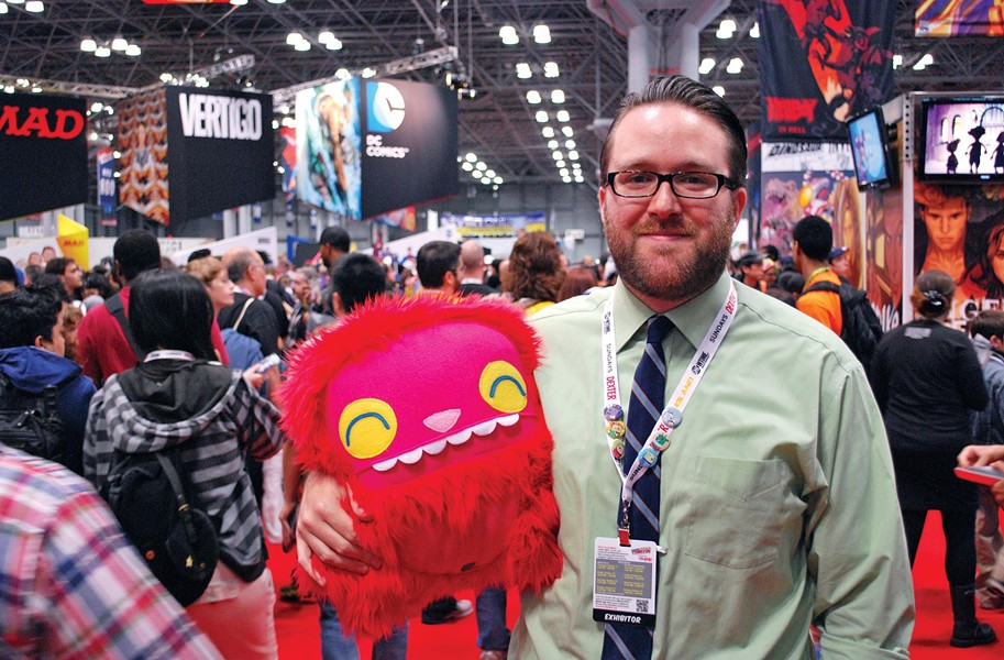 Local crafter Phil Barbato brings his monsters to the madhouse of the New York Comic Con. - ANDREW COTHERN