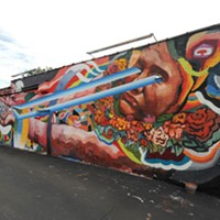 The Richmond Mural Project Location: 2416 W. Cary St., west wall of Selba. Artist: Ever.