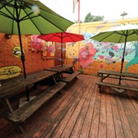 The Richmond Mural Project Location: 2929 W. Cary St., inside back patio of Don't Look Back. Artist: Kelly Towles.