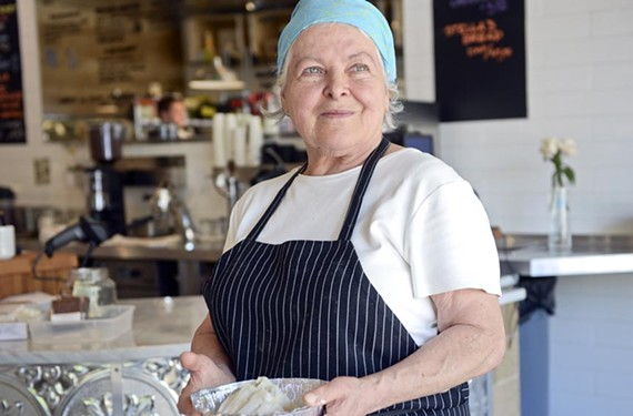 Longtime restaurateur Stella Dikos has opened a small, neighborhood market, Stella's Grocery, across the street from her restaurant in Sauer's Gardens.