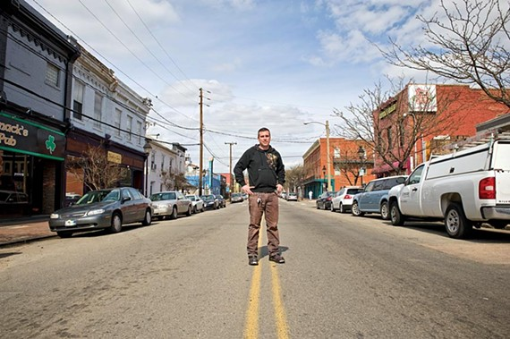 Mac McCormack, here on 18th Street, says rowdy crowds in Shockoe Bottom are damaging some businesses, including his Irish pub. - ASH DANIEL/FILE
