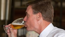 Mark Warner Drinks Beer in Richmond at 10:30 a.m.