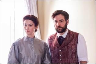 Mary Elizabeth Winstead as Nurse Mary Phinney and Josh Radnor as Jedediah Foster. Courtesy of Antony Platt/PBS