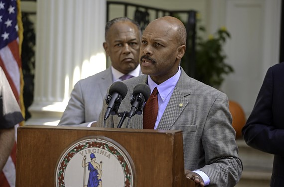 Maurice Jones, with Mayor Dwight Jones at an economic development announcement last year, serves as the governor's secretary of commerce and trade.