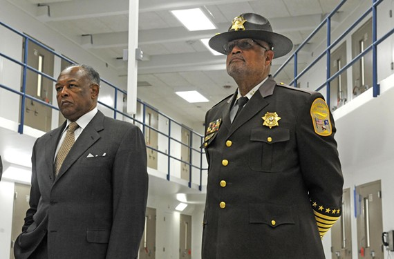 Mayor Dwight Jones and Sheriff C.T. Woody say they want jail to be the last stop for criminals, not the first. Alternative sentencing programs are helping, but they've been slow to get rolling while the jail's population increases. - SCOTT ELMQUIST