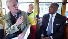 Mayor Jones Rides a Trolley and Looks at Flowers