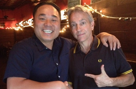 Mekong owner An Bui with Commerical Taphouse owner James Talley.