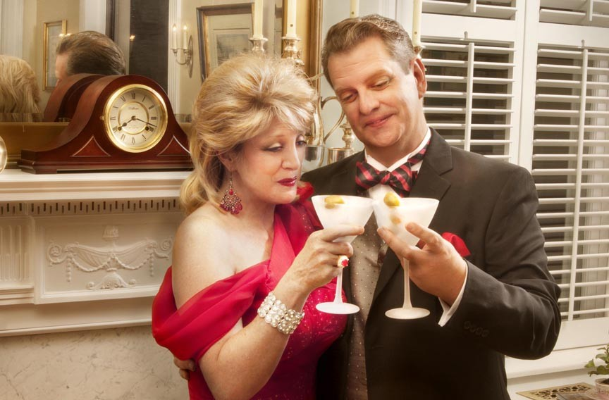 """Melissa Johnston Price and Joe Pabst appear in gay-marriage comedy """"Regrets Only,"""" at the Richmond Triangle Players' theater through Oct. 13. - JOHN MACLELLAN PHOTOS & DESIGN"""