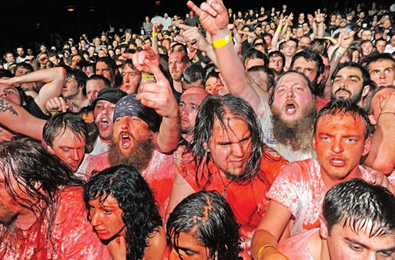 Metal doesn't do pink, except when it's a spew stain obtained from standing near the stage at a Gwar concert.