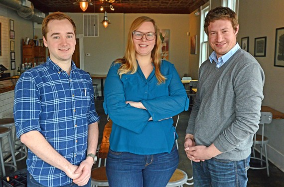 Metzger owners Nathan Conway, chef Brittanny Anderson and Brad Hemp have filled a hole in the Richmond dining scene by bringing German cuisine to Union Hill. - SCOTT ELMQUIST