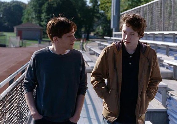 """Midlothian resident Devin Druid (right) in a scene with Jesse Eisenberg from """"Louder Than Bombs,"""" which will be competing for the highest prize awarded at the Cannes Film Festival next month."""