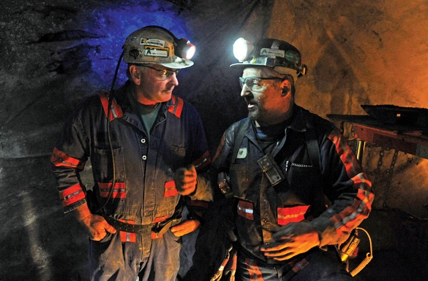 Miners at Alpha Natural Resources, which bought Massey Energy, work at Deep Mine 41 in Southwest Virginia. - SCOTT ELMQUIST