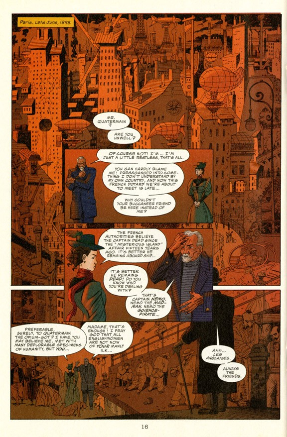 """Modern comic series """"The League of Extraordinary Gentlemen"""" mined the rich vein of Victorian-era adventure. Left: Though the title sounds tame, this work by Browning tells a tale of guilt and sexual desperation."""
