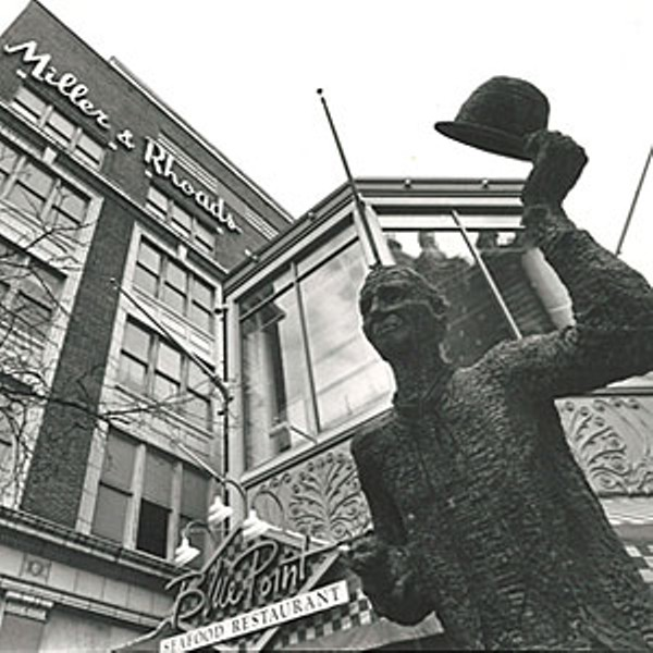 Mr. Smedley in front of the former 6th Street Marketplace. File photo.
