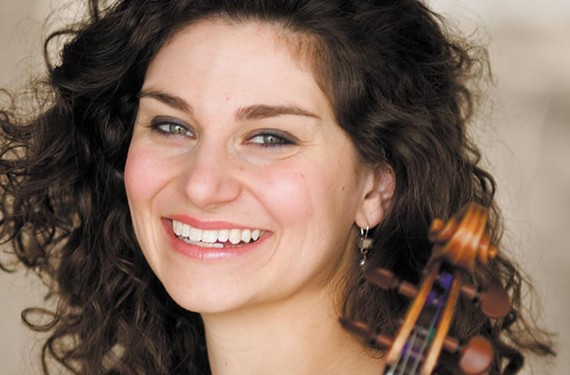 """Newly appointed Richmond Symphony concertmaster Diana Cohen comes from a family of music makers. """"I couldn't avoid becoming a musician"""" the violinist says."""