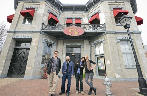 Nicholas Crider, Jeremy Parker aka Parker Galore, Prabir Mehta and Amanda Robinson have led the growth of Gallery5, the 1849 firehouse that serves as an anchor for the arts district.