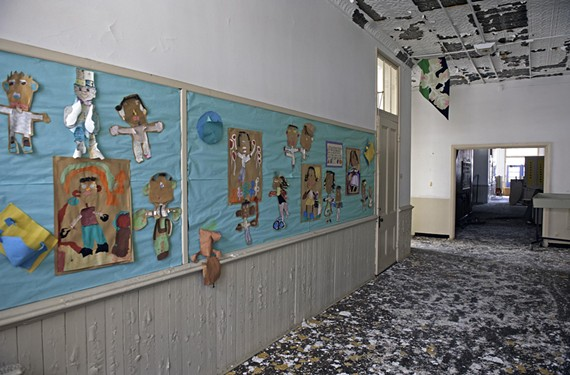 No one is taking responsibility for the former Moore Street School. Students no longer occupy the building, but some officials are concerned about its disrepair and how it may affect students at the building it's attached to: Carver Elementary.