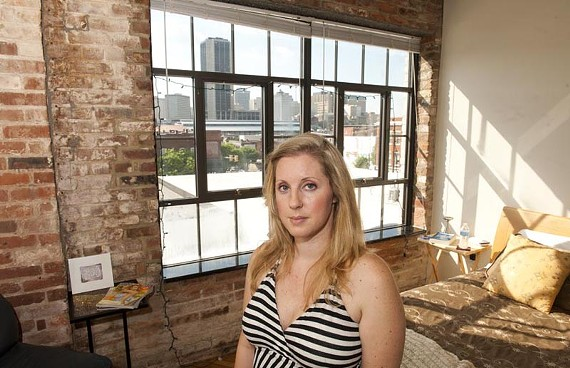 Noise may be a part of living in Shockoe Bottom, but for Hanna Averitt (above) and some others, the sound blaring from the outdoor speakers at MoFauzy's Lounge (below) was too much to endure. - SCOTT ELMQUIST