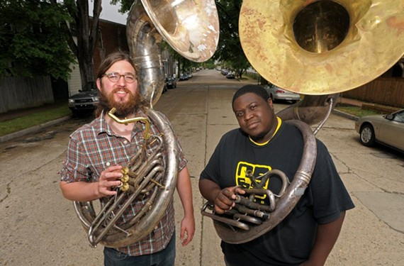 On a lark, Fight the Big Bull bandmates Matthew E. White and Reggie Pace, founder of No BS Brass Band, started a marching band in 2009. City officials promptly ejected them from Chimborazo Park because they lacked the proper permit. - SCOTT ELMQUIST