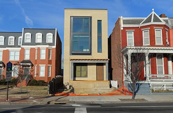 One of Richmond's most historic neighborhoods, Jackson Ward, has watched a modern three-story townhouse rise on West Leigh Street.
