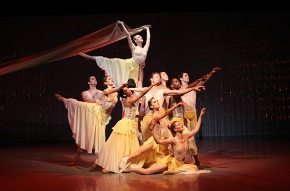 """One reason Richmond Ballet is headed to China has to do with the insight of artistic director Stoner Winslet in working with Chinese choreographer Ma Cong, whose """"Lift the Fallen"""" is pictured here. Cong will be accompanying the ballet on its China tour next year."""