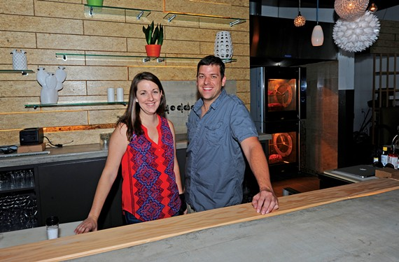 Owners Jessica and Josh Bufford prepare to open Estilo a few doors from their gastropub Toast in the Village Shopping Center. - SCOTT ELMQUIST