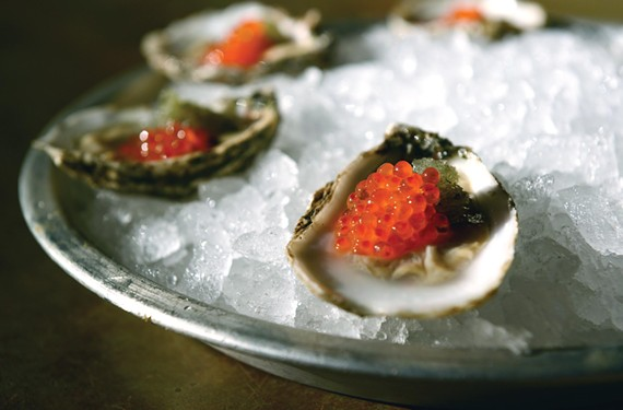 Oysters and pearls of trout caviar are the star, but there's more to discover on the menu at downtown's Rappahannock. - SCOTT ELMQUIST