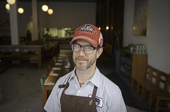 Pasture's Shawn Burnette constantly works to improve his biscuit recipe.