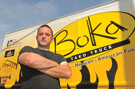 Patrick Harris, no slouch in the bigger-brighter-bolder street food scene here, presents a food truck pod this week and next in the parking lot at the Virginia Historical Society. - SCOTT ELMQUIST