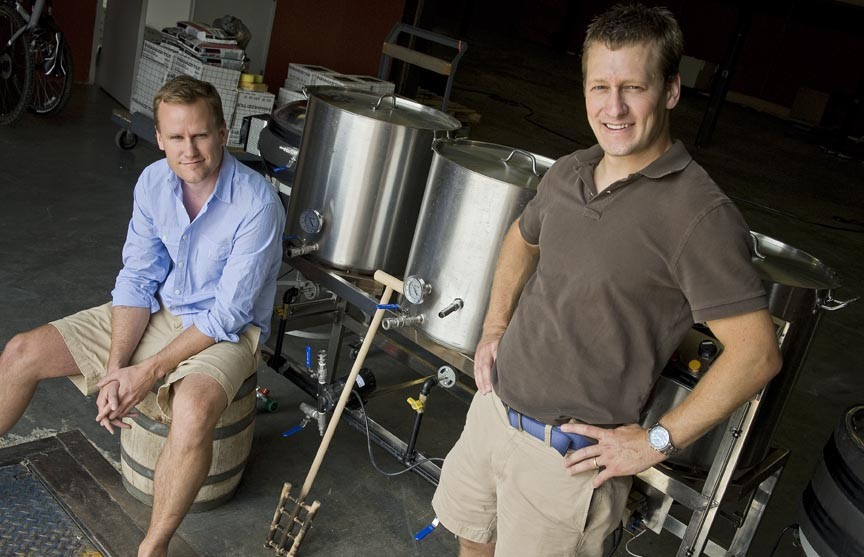 Patrick Murtaugh and Eric McKay hope to make beer that suits the local climate and foods in their new business, Hardywood Park Craft Brewery.