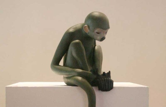 People say we monkey around: Tracey St. Peter's whimsical sculptures have delighted patrons at Eric Schindler Gallery.