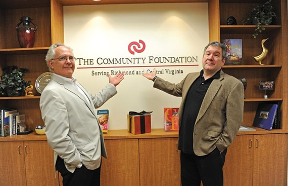 Phil Whiteway of Barksdale/Theatre IV (left) and Richmond Triangle Players' Philip Crosby are two of the administrators behind an emergency fund for area theater professionals. A special Tony Award viewing party is being held this week, with proceeds going to the fund. - SCOTT ELMQUIST