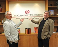 Phil Whiteway of Barksdale/Theatre IV (left) and Richmond Triangle Players' Philip Crosby are two of the administrators behind an emergency fund for area theater professionals. A special Tony Award viewing party is being held this week, with proceeds going to the fund.