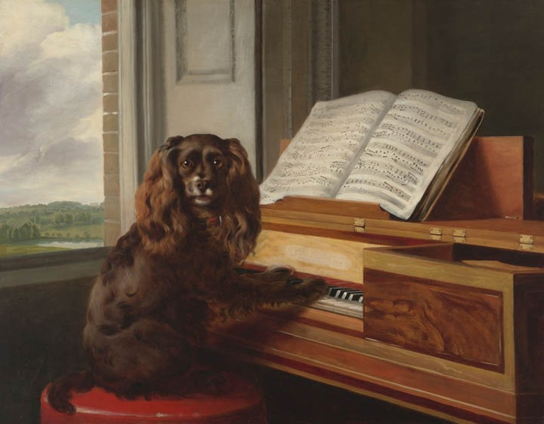 """Philip Reinagle painted the well-loved """"Portrait of an Extraordinary Dog"""" in 1805. - KATHERINE WETZEL/VIRGINIA MUSEUM OF FINE ARTS"""