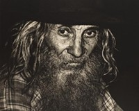 """Photographer Jack Jeffers took """"a hard right turn"""" when he discovered the people of Appalachia. Examples of his work, such as """"Mountain Man"""" (1972), can currently be seen at the Virginia Historical Society."""