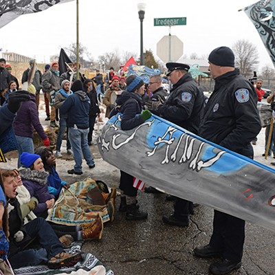 Activists Block Dominion Office