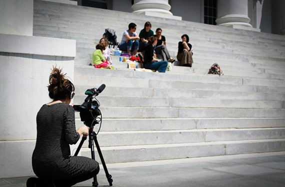 """""""Political Bodies"""" (2013) examines the heated battle in Virginia over legislation regarding women's reproductive rights, which led to protests at the State Capitol in 2012. The film won the best documentary award at the Austin Film Festival."""