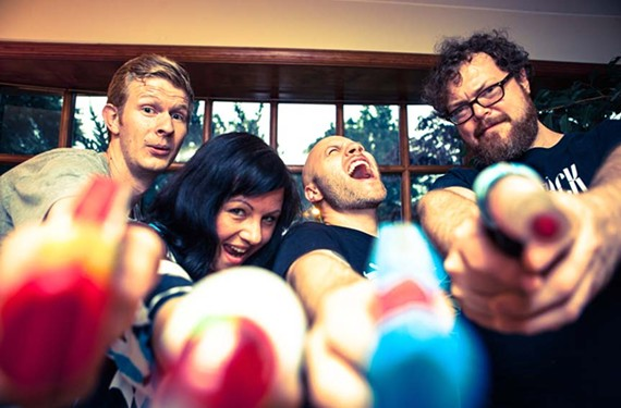 "Positive No features Willis Thompson (drums), Tracy Wilson (vocals), Kenneth Close (guitars) and Josh Quarles (bass). They describe their music on Facebook as ""static-jingle-sonic-fuzz-dream-pop."" - CHRIS LACROIX"