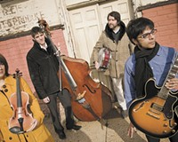 Prabir Mehta, at right, with his bandmates in Goldrush (Treesa Gold, Matt Gold and Gregg Brooks). In July, the Richmond-based band will participate in a rock-classical summit at the Omaha Music Conservatory.