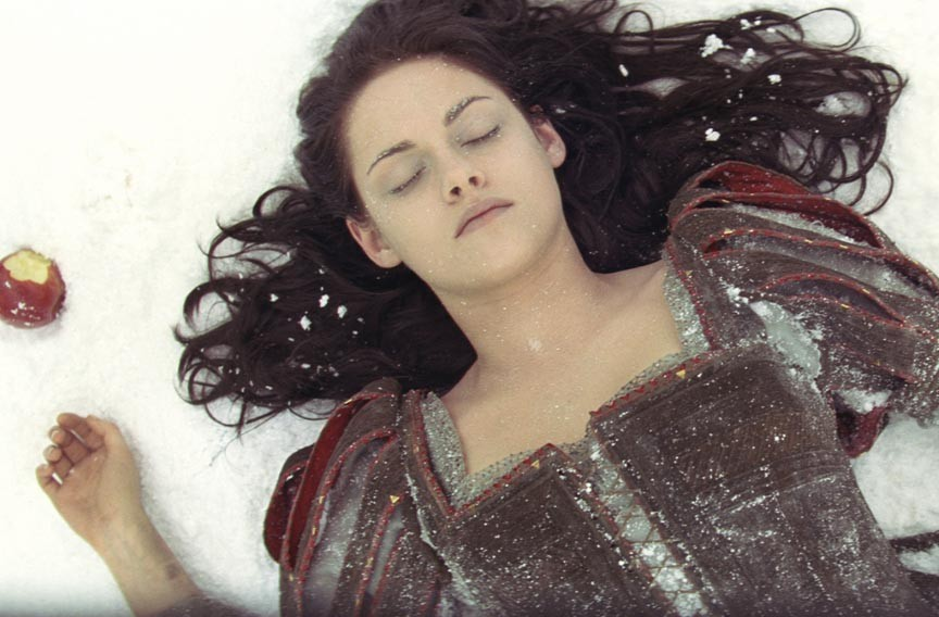 """Prince Charming better get here soon or my lips are going to freeze off."" In yet another Hollywood fairy tale remake, Kristen Stewart plays a girl named Snow. - UNIVERSAL PICTURES"