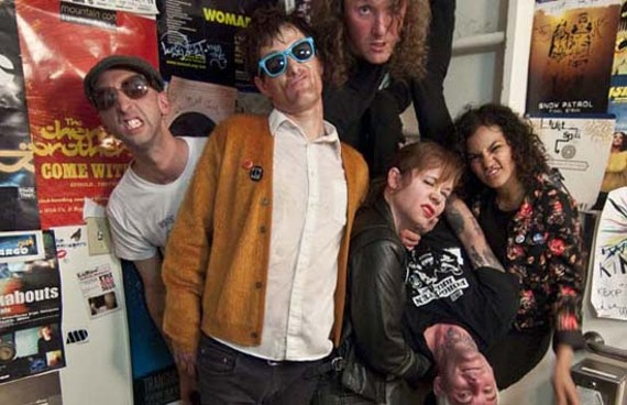 """Punk rock keeps you young."" The Cute Lepers are, from left, Brian Yeager, Steve E. Nix, Dain Hudson, Meredith Duffy, Stevie Kicks and Prisila Ray. - VICTORIA VANBRUINISSE"