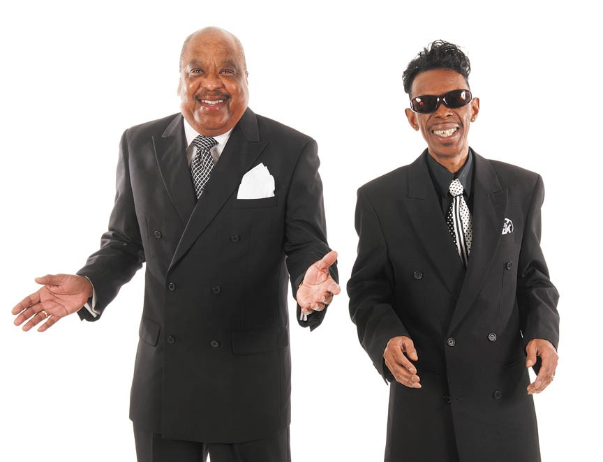 """Ray Smith, left, the sole surviving member of the Richmond-based Jarmels, has teamed up with local soul legend Tyrone """"Little Tommy"""" Thomas to revive the band's name. The revamped lineup appears in a new PBS doo-wop special, and will perform at the Henrico Theatre on April 30. - SCOTT ELMQUIST"""