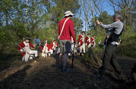 "Redcoats prepare for a scene in ""Turn"" in the Richmond area. About 150 people were involved in the production. - ANTONY PLATT/AMC"