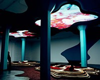 """Reflective residue: Pipilotti Rist's """"Gravity Be My Friend"""" engulfs the viewer in a peculiar Dali-like landscape."""