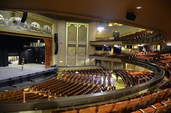 Renovations to the theater space include a new design scheme, improved sound and 3,600 refurbished seats.