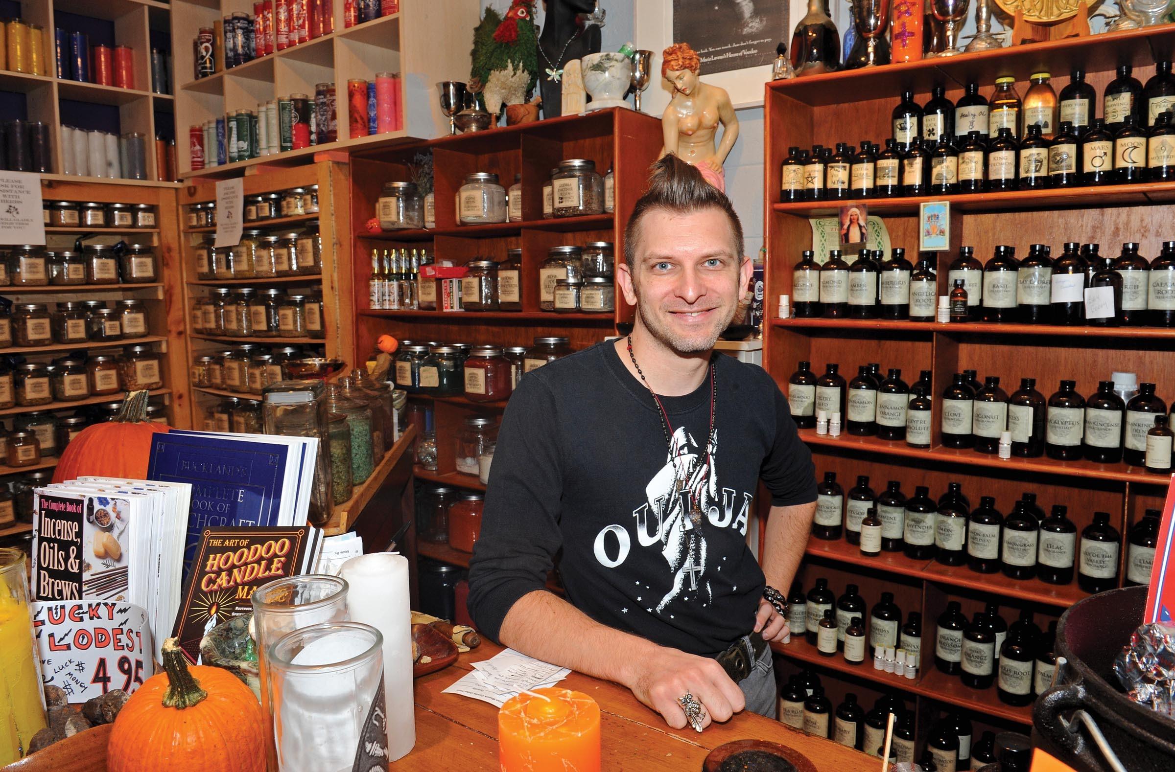 "resident witch of the Aquarian Bookshop, Matthew Sawicki, says Richmond has a ""strange harmonic."" - SCOTT ELMQUIST"