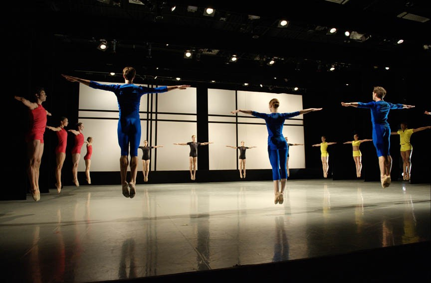 "Richmond Ballet dancers in ""Lines Squared."" - SARAH FERGUSON"
